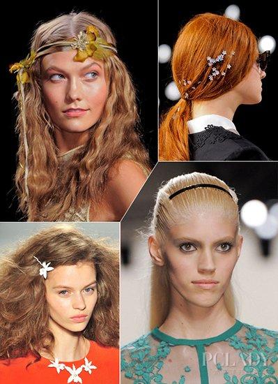 ...对于新的发饰和发型搭配还没有灵感?小编与你一起去2014春夏