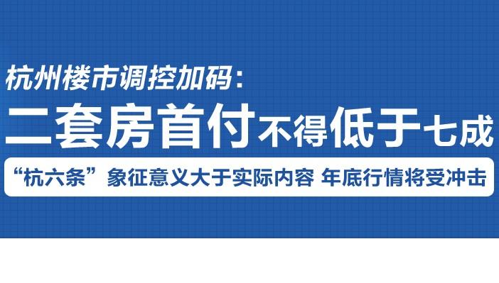 杭州楼市调控加码