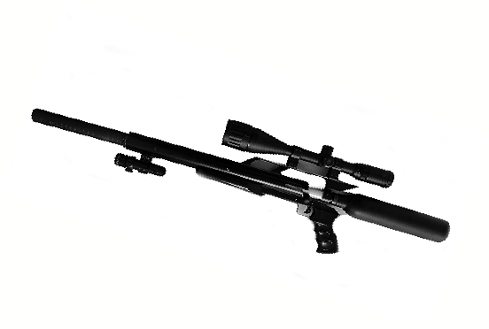 缴获的仿美制秃鹰气枪。