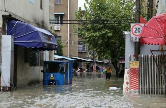 浙江余姚70%以上城区受淹高清图片