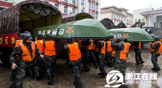 22日-省军区三千官兵打响抗台