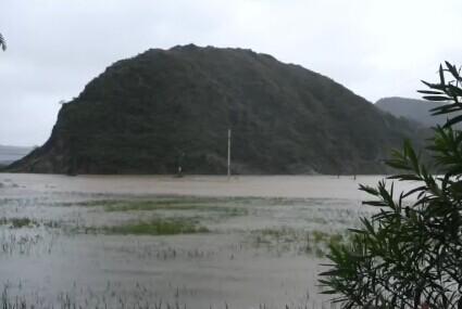 台风肆虐 三门良田成汪洋