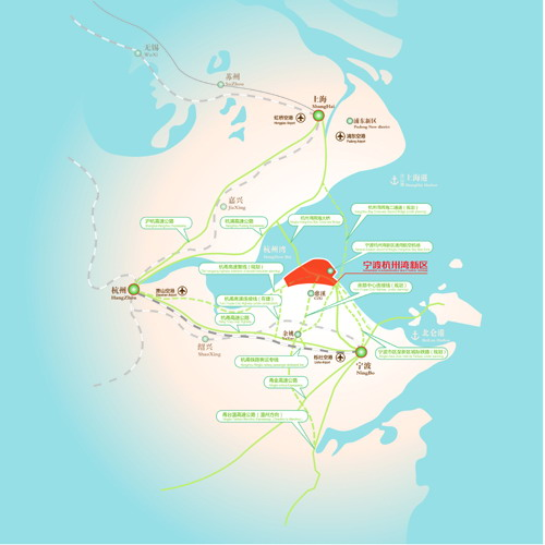 宁波杭州湾新区通用航空机场区位图图片