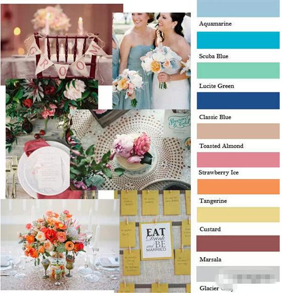 2015婚礼流行色TOP10 设计师和时尚咖都爱的颜色
