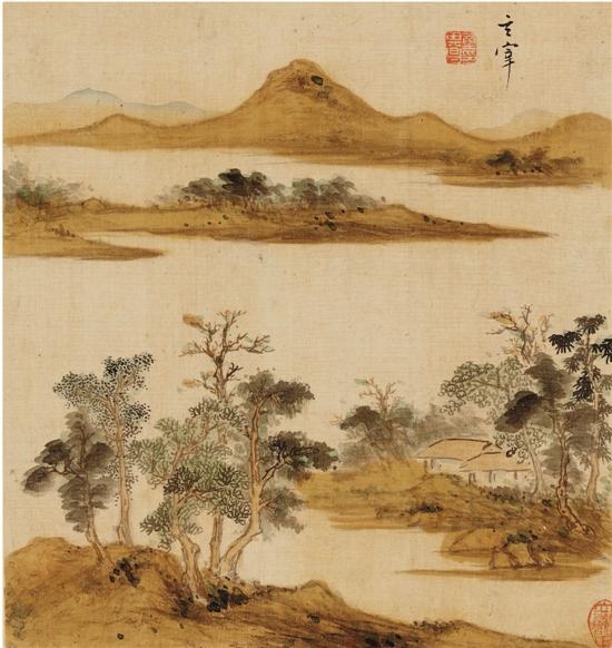 山水画中的山水树石绘制技法浅析图片
