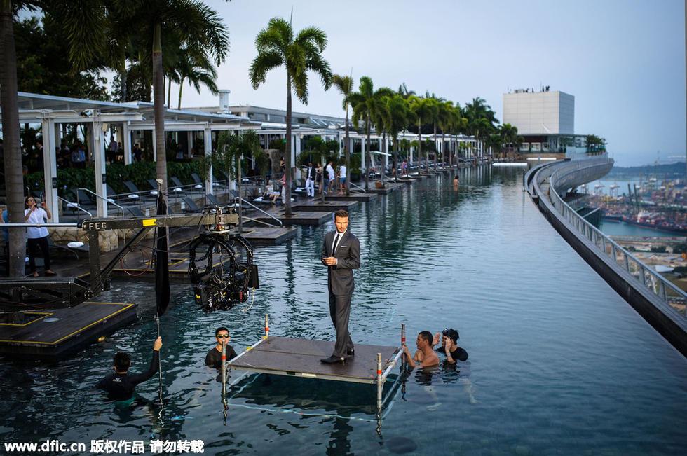 报出炉,其代言新加坡旅游胜地滨海湾金沙,广告大片不加特技也上