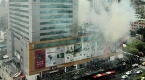 杭州百脑汇电脑城发生火灾