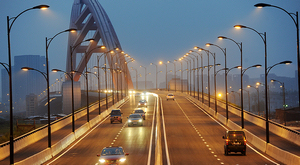 杭州沿江公路运河二通道桥试通车