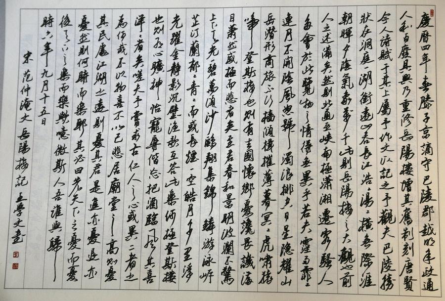 最美钢笔行书书法欣赏-王学文 通琴棋精书画图片