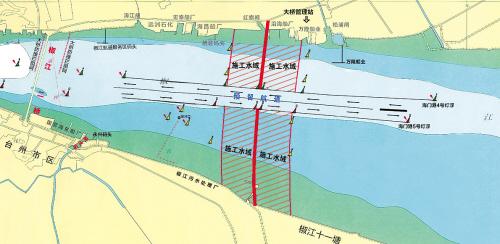 高潮流很多水粘稠图片_台州湾跨海大桥已进入全面施工高潮期