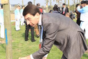 Representatives plant trees to mark 2014 WIC