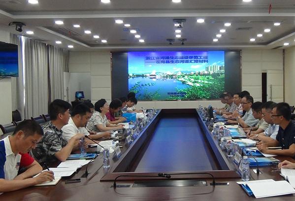 省河道生态建设示范工程考核小组赴苍进行考核指导工作