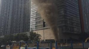 杭州地铁4号线南星桥站工地天然气泄漏