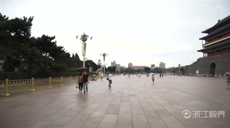 天安门搭建观礼台布置景观 北京静待阅兵