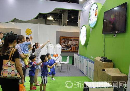 环保生态馆点睛亲博会 引孩子、家长纷纷点赞