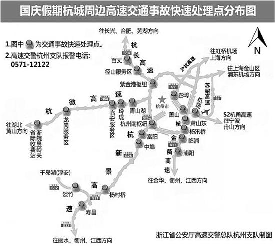 国庆长假首日:杭长高速上 有的服务区连油都加完