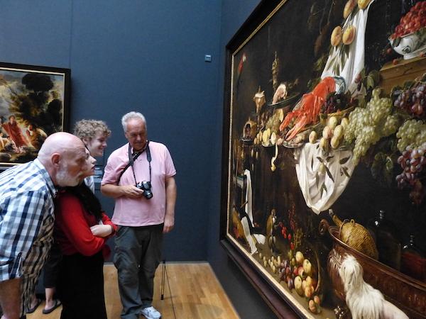 阿姆斯特丹国家博物馆里的大幅静物画. 李章/摄高清图片