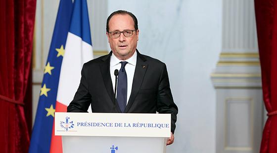 奥朗德宣布法国全国进入紧急状态 取消参加G20峰会