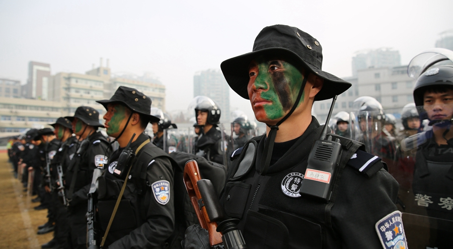 防暴处突精英小组亮相G20杭州峰会动员队伍