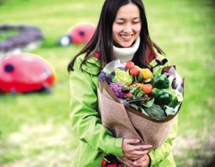 有机蔬菜的浪漫之花