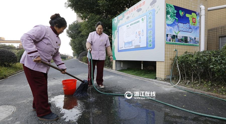 杭州一社区安装节水装置
