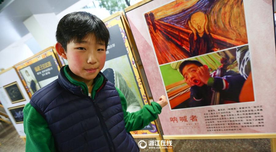 小学生模仿世界名画而爆红