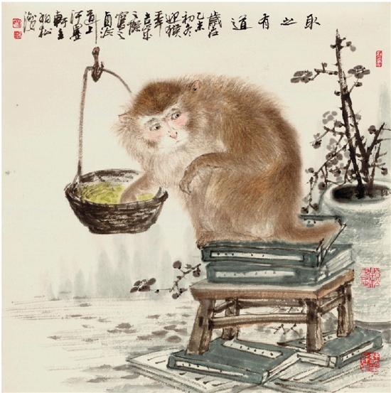 宋柏松中国猴锅底新作展如何用西红柿做国画图片