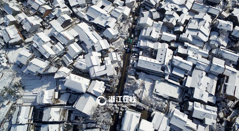 大雪在杭州造了一座童话城堡
