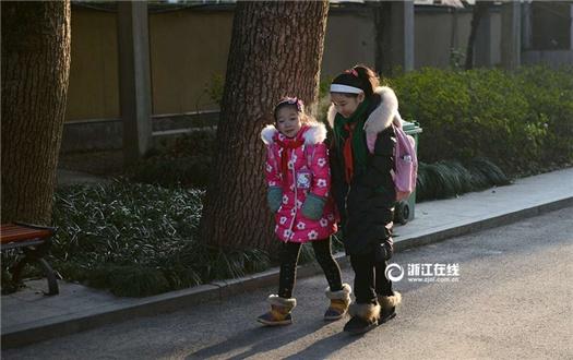 寒潮接近尾声 杭州主城区中小学陆续复课