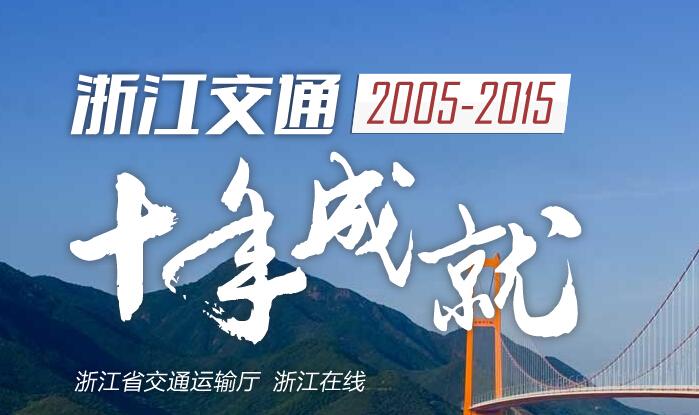 【专题】浙江交通十年成就