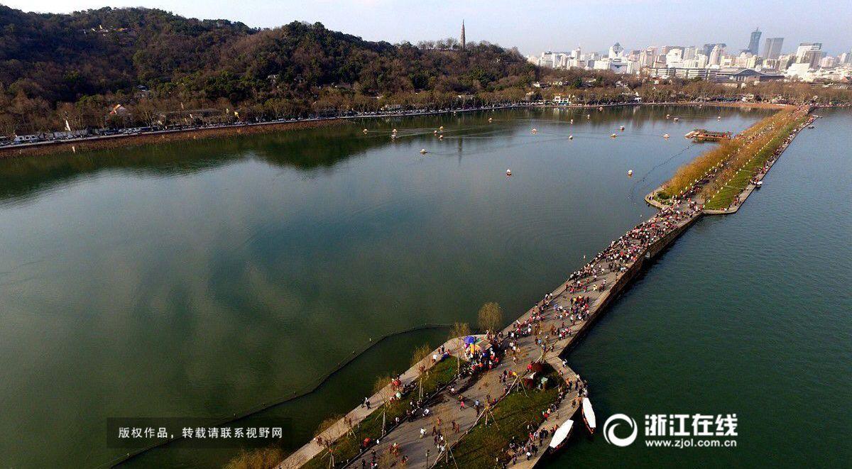 春节长假过半 西湖景区客流回落
