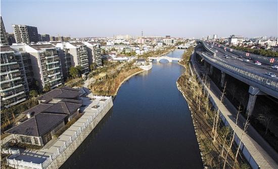 杭州城东最长人工河完工
