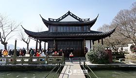杭州平湖秋月景点修葺后开放