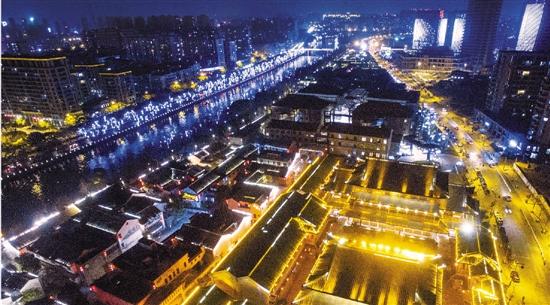 灯火璀璨古运河