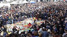 比利时民众悼念恐怖袭击遇难者