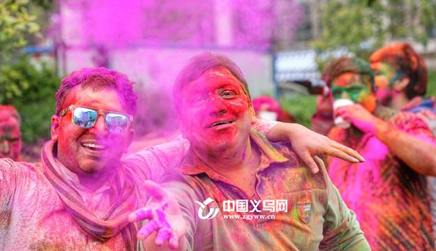 感受印度的色彩!义乌印度外商high翻色彩节