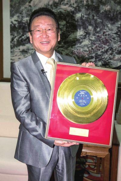 """蒋大为/昨天,著名男高音歌唱家蒋大为将""""首届中国金唱片奖——《牡丹..."""