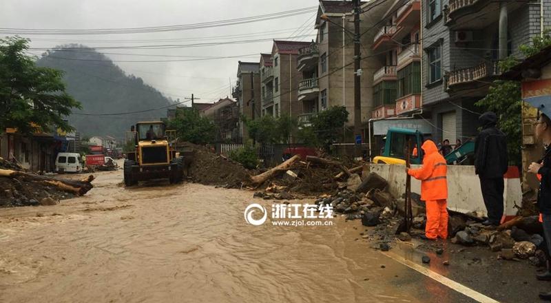 临安清凉峰镇发生泥石流灾害