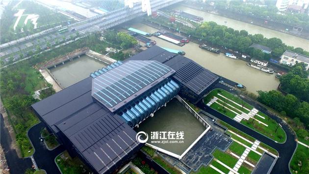 杭州三堡泵站开启排涝机组