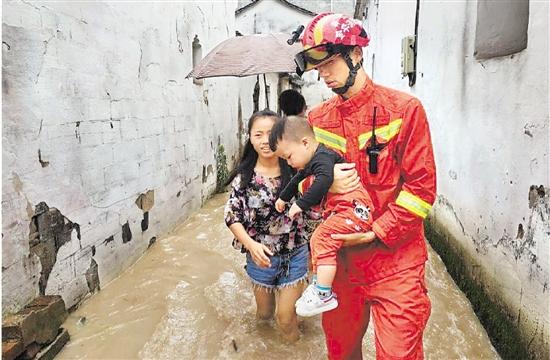 衢金温因强降雨部分城区内涝