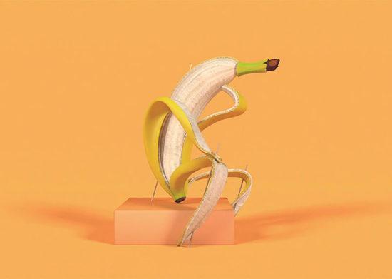 一看就不正经!一组被艺术家玩坏的香蕉们