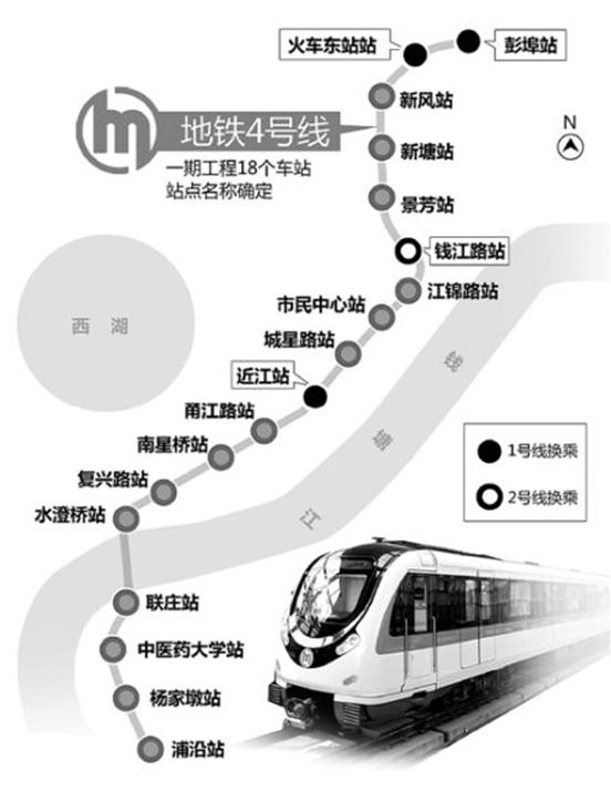 杭州/地铁4号线线路图