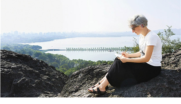 意大利美女画家的杭州乐活一天