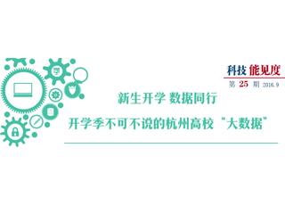 """【科技能见度】开学季不可不说的杭州高校""""大数据"""""""
