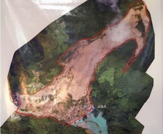 浙江省测绘局出具遂昌苏村山体滑坡前后航拍影像