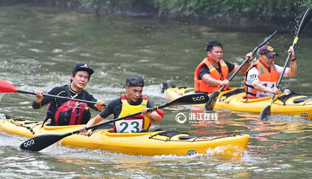 国际皮划艇马拉松经典赛在绍兴举行