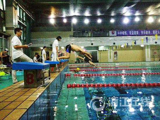 迎世界短池游泳锦标赛 游泳达人挑战赛在杭举行
