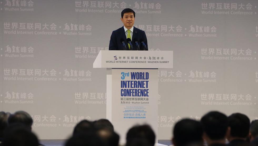 百度董事长、首席执行官李彦宏发表讲话