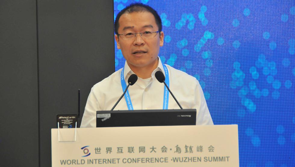 上海大数据创新基地的执行董事糜万军发言