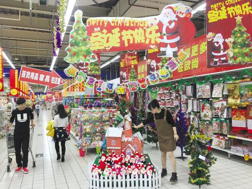 商场提前进入迎新年模式